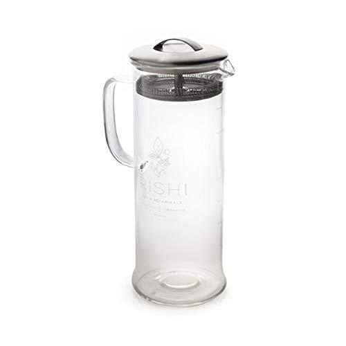 Rishi Tea Simple Brew Loose Leaf Tea Glass Teapot - Steep Your Tea the Right Way - 33 fl-oz (1,000 ml)