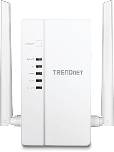 TRENDnet Wi-Fi Everywhere Powerline 1200 AV2 AC1200 Wireless Access Point, Dual-Band, 3 x Gigabit Ports, WiFi Clone, Cross Compatible with Powerline 600/500/200, TPL-430AP White