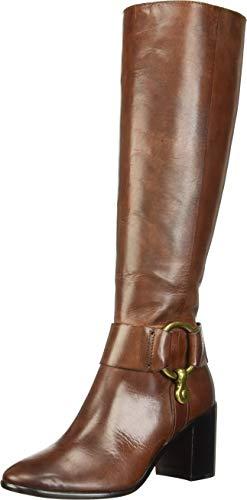 FRYE Women's Julia Harness Tall Boot, Dark Brown, 8 M US