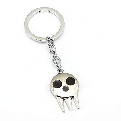 Anime Soul Eater Pendant Alloy Keychain Cosplay (Silver)