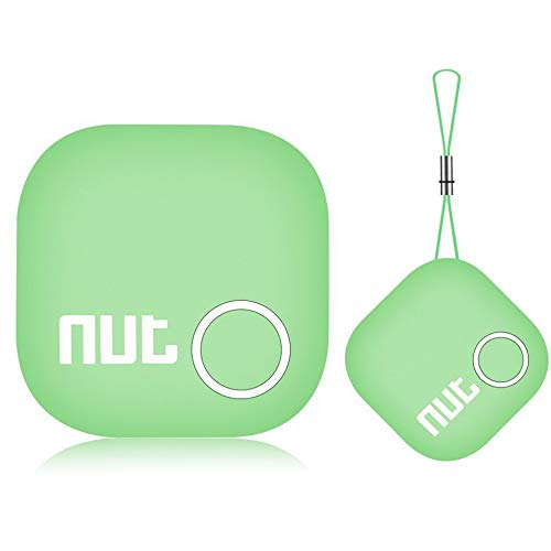 Car Key Finder Tile Smart Tag Tracker Locator - Nut 2' Tracking Chip for Wallet Bluetooth Item Anti-Lost with App, Mini GPS Alarm Tracer Reminder for Bag Phone Pets Dog Keychain Purse Luggage, Green