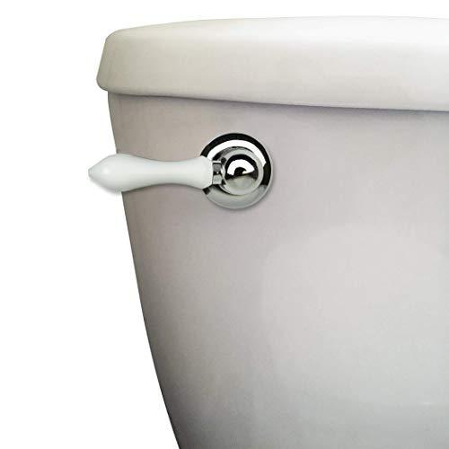 Danco 89448A 89448 Decorative Toilet Tank Handle, Chrome/White