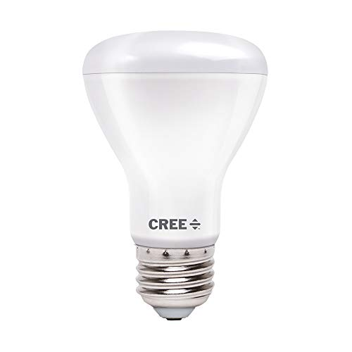 Cree Lighting R20 Indoor Flood 100W Equivalent LED Bulb, 1400 lumens, Dimmable, Daylight 5000K, 25,000 Hour Rated Life, 90+ CRI | 1-Pack, White
