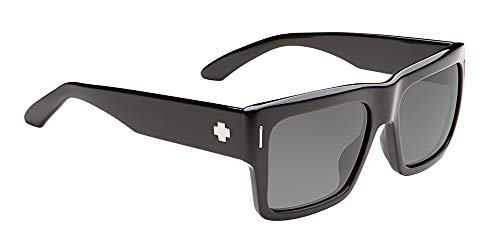 Spy Optic Unisex Bowery Matte Black/Injected/Grey Polarized Sunglasses