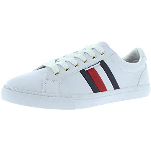 Tommy Hilfiger Women's LIGHTZ Sneaker, White Multi, 8.5