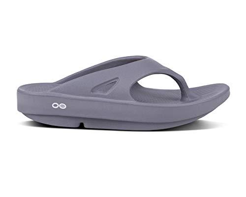 OOFOS Unisex Ooriginal Thong Flip Flop, Slate,7 B(M) US Women/5 D(M) US Men