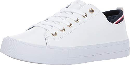 Tommy Hilfiger Women's Two Sneaker, White, 8