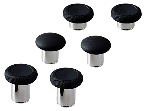 E-MODS GAMING 6 in 1 Swap Thumbstick Grips Replacement Parts for Xbox One Elite Controller - Black