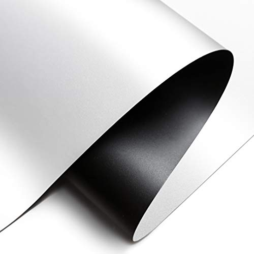Projector Screen Material Fabric 70x118 inch for Max 130 inch 16:9 Projection Screen DIY, Black Backing 4K Ultra HD Front Projection EPPE Polymer Material (White)