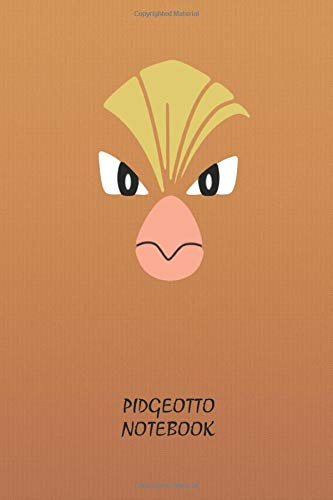 Pidgeotto Notebook: Anime Lover Notebook, 112 Lined Pages, 6 x 9, Gift, School&Office, Pokemon, Pidgeotto