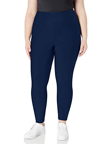 Amazon Essentials Women's Performance High-Rise 7/8 Length Active Legging, Navy, Large