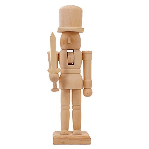 Garneck Wooden Nutcracker Figures Wooden Soldier Doll Wooden Nutcracker Puppets FiguresNew Year Gift for Kids
