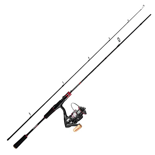 Corsa Outdoors Fishing Rod and Reel Combo - KingWharf Spinning Pro Rod - 6'8' 2.1m Carbon Medium Action Rod - Freshwater Saltwater Bass 3000 Reel - Line Included (6'8'(2.1m))
