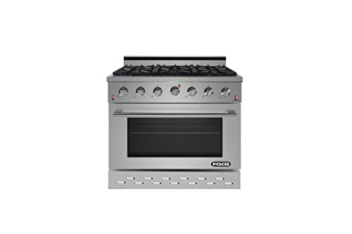 NXR SC3611 36' 5.5 cu.ft. Pro-Style Natural Gas Range with Convection Oven, Stainless Steel