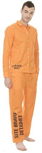 Suicide Squad Site Bravo Detainee 2 Piece Mens Costume Set (Medium) Orange