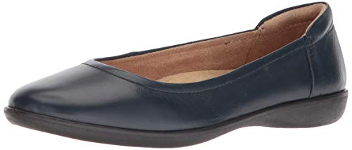 Naturalizer womens Flexy Ballet Flat, Navy Leather, 7 US