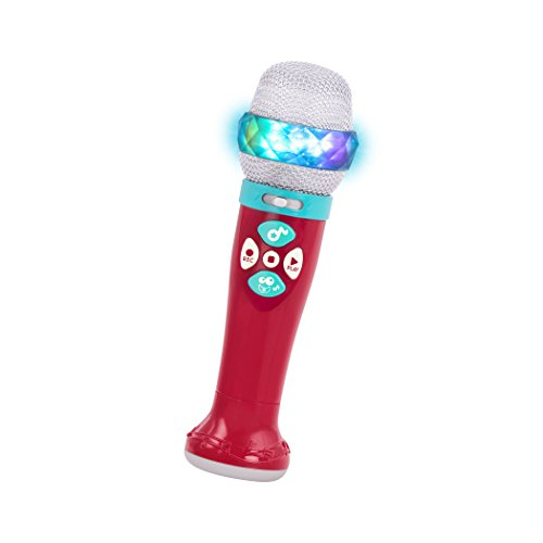 Battat – Musical Light Show Microphone – Light-Up Sing-Along Mic with 5 Songs and Record Functions for Kids 2 Years + (Bluetooth)
