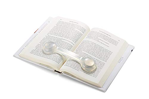 Bookmark/Weight-Page Holder-Holds Books Open and in Place-Clear-by Superior Essentials