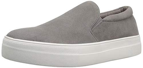 Steve Madden Women's Gills Sneaker, Grey Suede, 7 M US