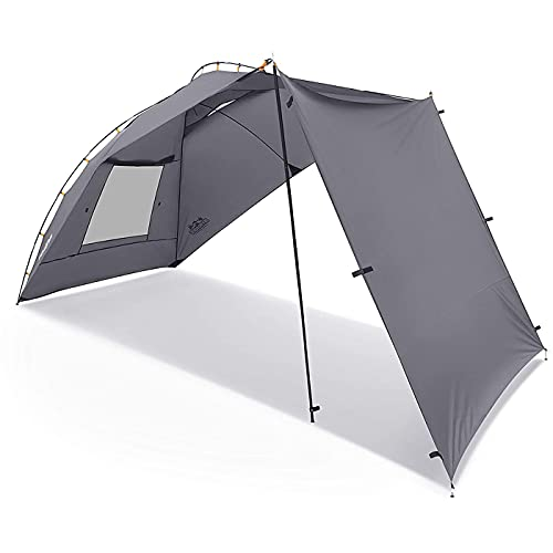 Portable Awning/Canopy/Sun Shade with Privacy Wall for Car/SUV/Camping/Beach/Etc.