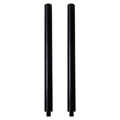Sound Town 2-Pack Subwoofer/Speaker Extender Poles, Fits M20 Threading, Black (STSD-M20B-PAIR)