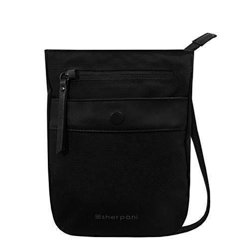 Sherpani Prima, Anti Theft Travel Crossbody Bag, Small Crossbody Purse and Shoulder Bag for Women, with RFID Protection (Carbon)