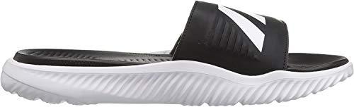 adidas Men's Alphabounce Slide Sandals, White/Core Black/White, (11 M US)