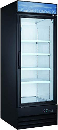 Large Capacity Upright Commercial Glass Door Display Cooler & Refrigerator, 23 CU Ft.