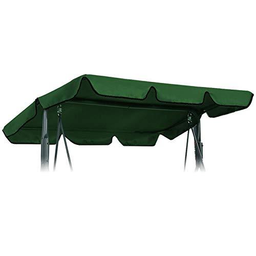 Creative-Idea Green 197x110cm Canopy Waterproofed Swing Chair Tent Sunshade Camping Swing Roof Replacement Garden Supplies Fabric Sun Shade