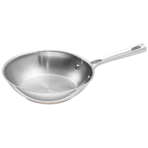 Emeril Lagasse Stainless Steel Copper Core Fry Pan, 8-Inch, 8', Silver