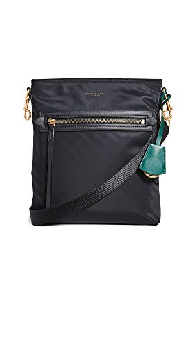 Tory Burch Women's Perry Nylon Swing Pack, Black, One Size