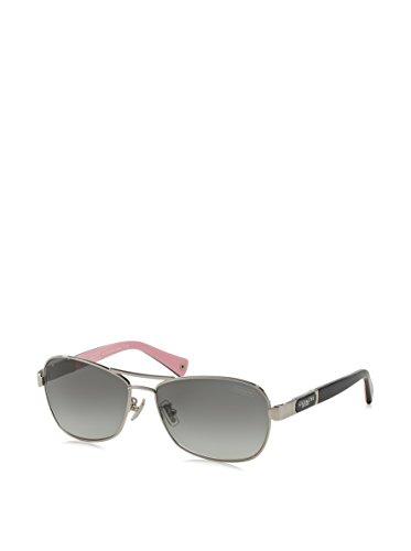Coach Sunglasses - Caroline / Frame: Silver Lens: Grey Gradient