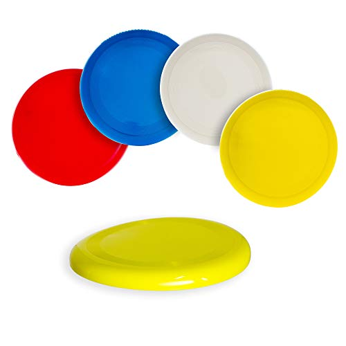 Fun Central 12 Pack - 10 inch Flying Discs Backyard Games & Sports Party Favors for Kids & Adults - Assorted Colors