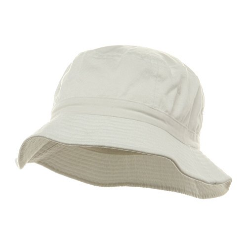 Pigment Dyed Bucket Hat-White W12S43E - Size: M/L