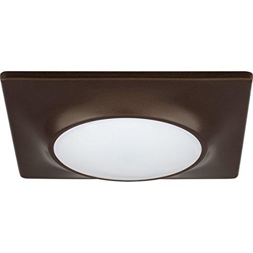 Progress Lighting P8027-20/30K9-AC1-L10 Transitional Surface LED Flush Mount Collection Dark Finish, 7.25 inches, 7 1/4', Antique Bronze