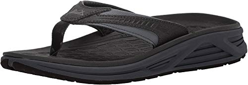 Columbia Men's Molokai III Sandal, High-Traction Grip, Shock Absorbent, Black, Graphite, 11 D US