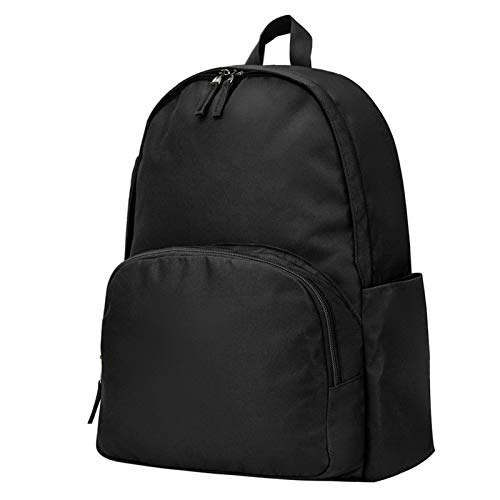 Vorspack Backpack School Backpack, Customized Classic School Bookbag Lightweight and Water Resistant for Boys & Girls - Black