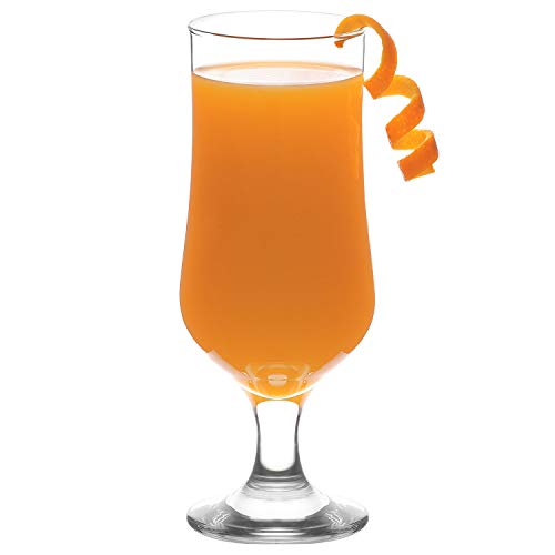 LAV Hurricane Glasses Set 6-Piece, Pina Colada Cocktail Glasses 13 Oz, Great Choice for Drinking Beer & Juice & Tropical Drinks, Lead-Free Clear Tulip Cups
