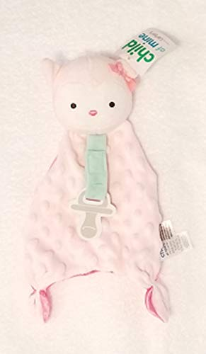 Carters Child of Mine Security Blanket with Paci Strip (Pink Owl)