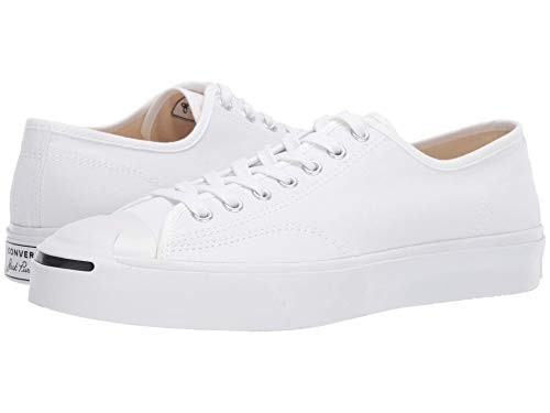 Converse Unisex Jack Purcell Standard Canvas Sneakers, White, Size 5 M
