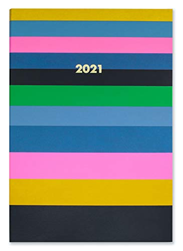 Kate Spade New York 2021 Annual Planner Weekly & Monthly, 12 Month Book Bound Hardcover Planner Dated Jan 2021 - Dec 2021 with Stickers, Pocket, Tab Dividers, Notes/Holiday Pages, Enchanted Stripe