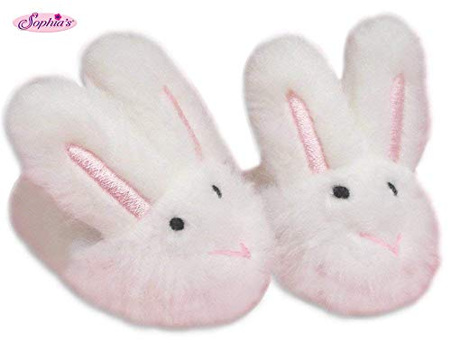 18 Inch Doll Slippers | White Bunny Slippers, Sized for American Girl and More! Doll Accessories, Doll Clothing for 18 inch Dolls, My Doll's Life Doll Clothes