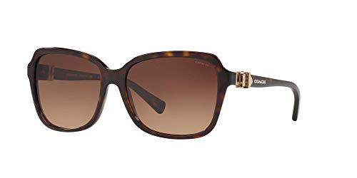 Coach Woman Sunglasses, Tortoise Lenses Acetate Frame, 58mm