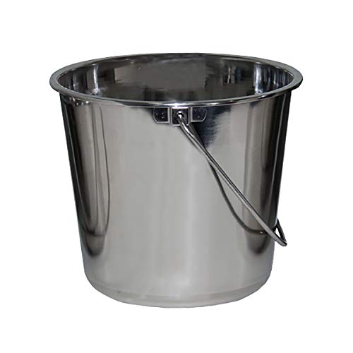 Stainless Steel Buckets for Pets, Cleaning, Food Prep (1 Gallon)