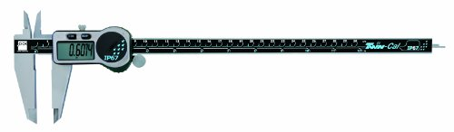 Brown & Sharpe 00590305 Twin-Cal IP67 Digital Caliper 0 to 12' Range, 0.0005' Resolution, Square Depth Rod, Wireless Data Port