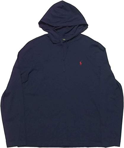 Polo Ralph Lauren Mens Jersey Knit Hoodie Tee (Medium, Ink (Navy Blue))