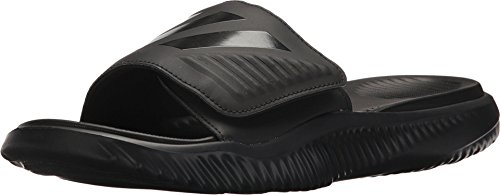 adidas Men's Alphabounce Slide Sport Sandal, Black/Black/Black, 11 M US