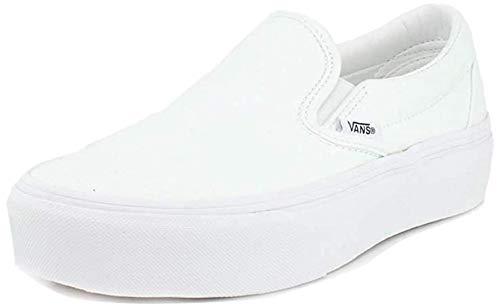 Vans Unisex Classic Slip-On Platform True White Sneaker - 5