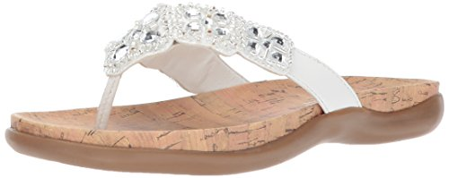 Kenneth Cole REACTION Women's Glam-athon Thong Sandal, White, 7 M US