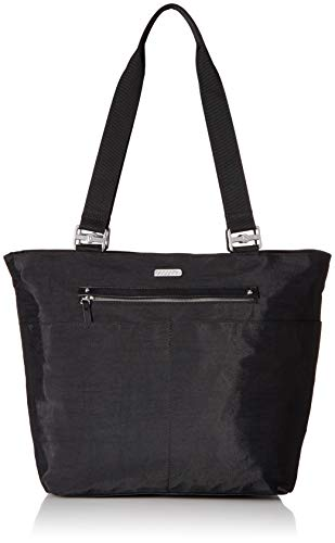 Baggallini womens All Around Tote, black with sand lining, One size